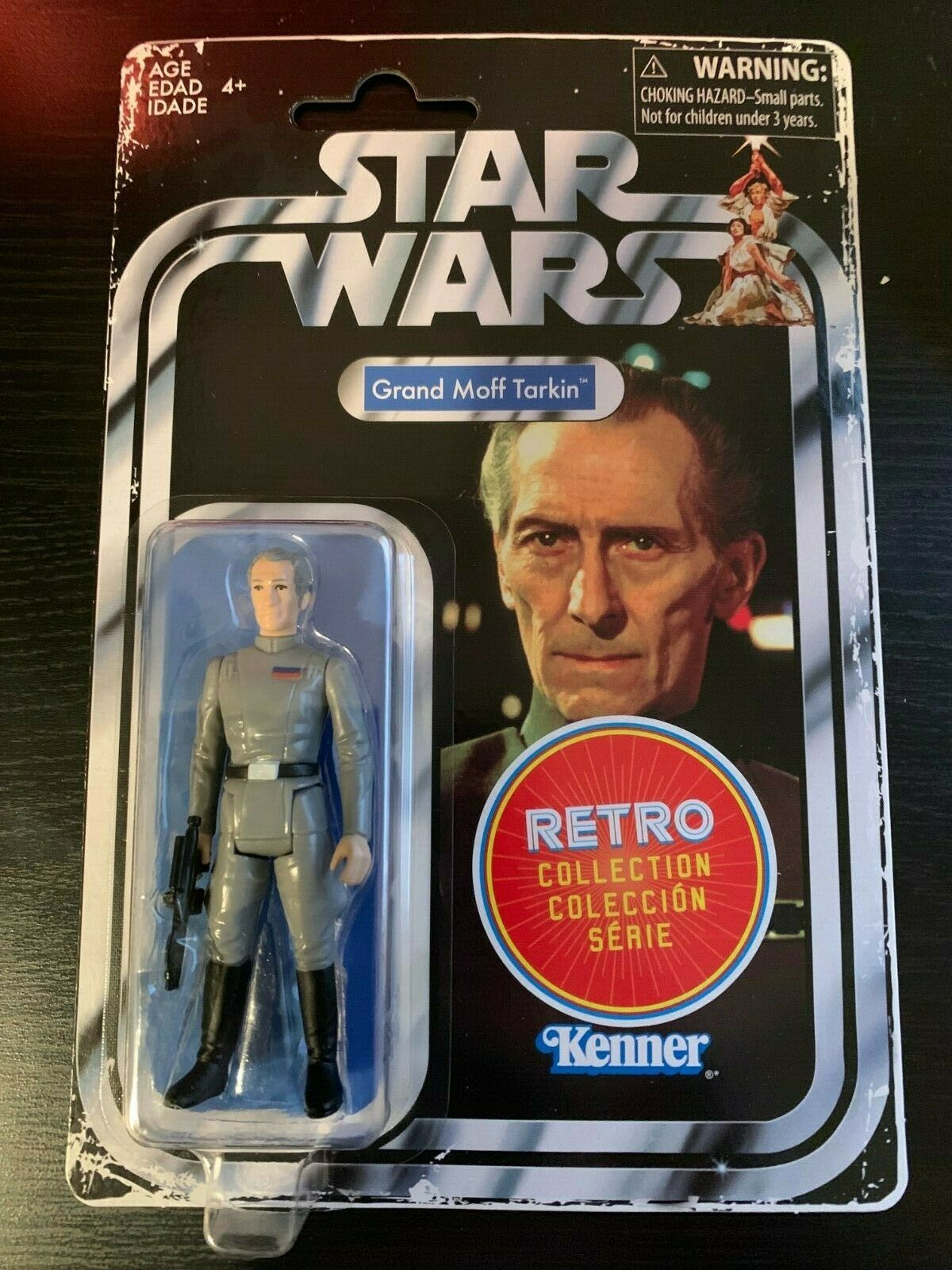 GRAND MOFF TARKIN STAR WARS RETRO COLLECTION VINTAGE REMAKE MINT KENNER HASBRO