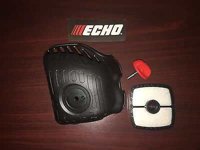 ECHO AIR FILTER COVER WITH THUMB SCREW AND DECAL Fits Models in Description