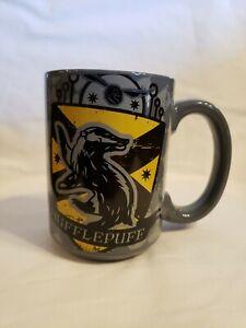 Harry Potter Coffee Large Mug Grey HUFFLEPUFF Crest Shield Coat of Arms by Zak