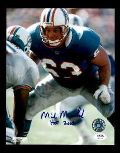 Mike Munchak PSA DNA Coa Hand Signed 8x10 Autograph Photo