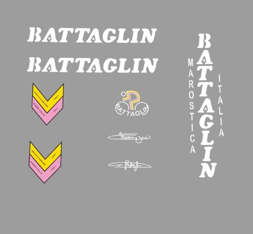 Transfers Stickers White n.12 Battaglin Bicycle Decals