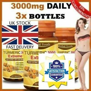 3-x-60-Extra-Forte-EXTREME-95-di-estratto-di-curcumina-tumerik-Pillole-antiossidante-UK