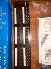 Allen Tel Products AT66-PNL-96 96 Ports 110 Termination Category 6 Patch Panel 568A // 568B Wiring 4 Rack Units