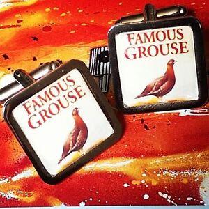 Unique FAMOUS GROUSE CUFFLINKS chrome WHISKY whiskey GIFT novelty DESIGNER fab - England, United Kingdom - Unique FAMOUS GROUSE CUFFLINKS chrome WHISKY whiskey GIFT novelty DESIGNER fab - England, United Kingdom