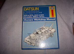 Haynes Workshop Manual Datsun Cherry F11 1976-1979-afficher Le Titre D'origine Hzt3aomd-07225436-507128322