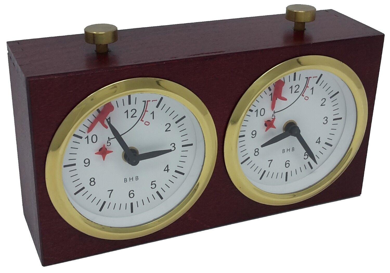 Échec ; Mécanique Horloge Bhb dans Boîtier de Bois, Acajou