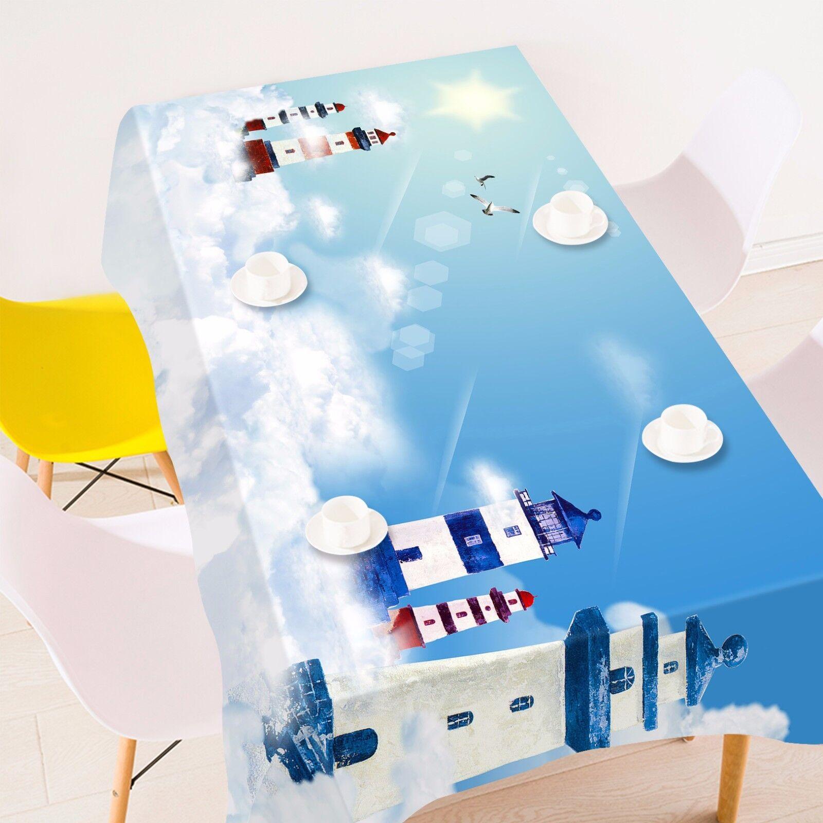 3D NUAGES 56 Nappe Table Cover Cloth fête d'anniversaire AJ papier peint Royaume-Uni Citron