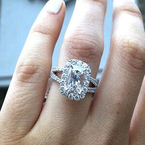Diamond Engagement Ring 2.10 Carat Cushion Cut GIA Certified 18k ... b38861734
