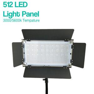 Details About Studio 512 Led Barn Door Light Panel 3000k 5600k Lighting Unit With Gel Filters