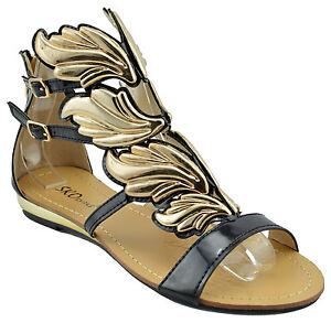 120 black gold hermes wings fashion women shoes sandals
