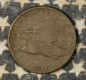 1858-FLYING-EAGLE-CENT-LARGE-LETTERS-COLLECTOR-COIN-FREE-SHIPPING