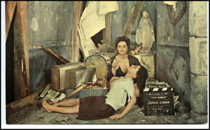 Postcard-Postkarte-BUENA-PARK-Wachs-Film-Schauspieler-SOPHIA-LOREN