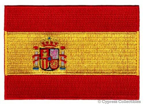 SPAIN FLAG embroidered iron-on PATCH SPANISH EMBLEM new applique ESPAÑA