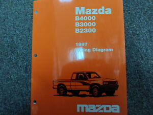1997 mazda b series truck b2300 3000 4000 electrical wiring diagrams rh ebay com