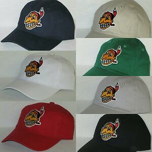 71510df5067 Cleveland Indians Polo Style Cap ~Hat ✨VINTAGE MLB PATCH LOGO ✨7 ...
