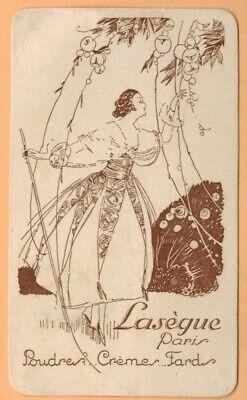 Carte Parfumée Publicitaire-lasègue Paris-poudre-crème-fard-réf.228