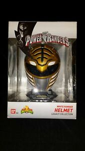 Bandai Saban's Power Rangers White Ranger Helmet Legacy Collection US Seller