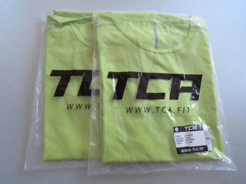 2 x Women's TCA Pro Performance Short Sleeve Base Layer Running Top Lime S