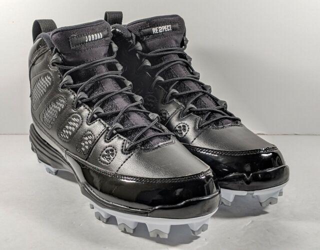 low priced 784a5 89bfd  NEW  Nike Air Jordan 9 IX Retro MCS Jeter Re2pect Cleats Black AA1264-