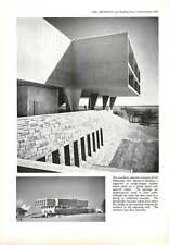 1958 Entrance and Windows, Memorial Building, Milwaukee, USA  : Eero Saarinen