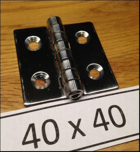 4 pezzi//Cerniera in Acciaio Inox 40 x 40//Cerniera in Acciaio Inox 40x40