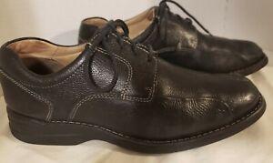 Johnston-amp-Murphy-Shuler-20-7222-Black-leather-Oxford-Dress-Shoes-US-8-5M