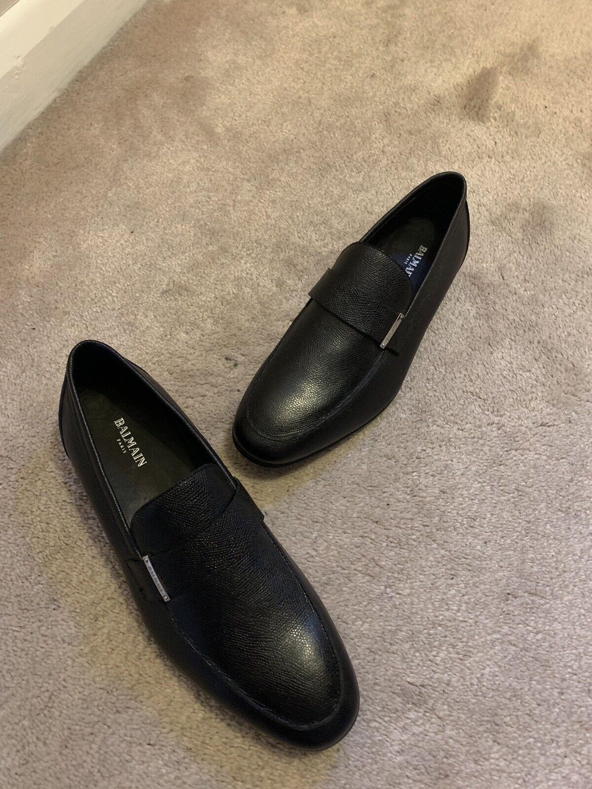 BALMAIN Hommes Loisirs Chaussures Slip Ons Chaussures Taille 41 Rare 100% Véritable