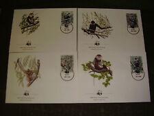 Vietnam FDC 1987,WWF,Mi.nr.1827 - 1830,Gibbons !