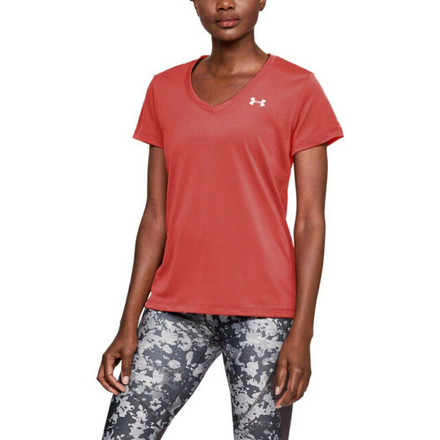 Gym Fitness Sports Training Tee 2019 Under Armour Ladies Tech V Neck T-Shirt