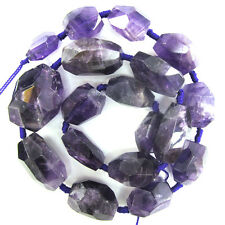 "16-28mm faceted amethyst nugget beads 18"" strand"
