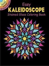 Dover Stained Glass Coloring Book: Easy Kaleidoscope Stained Glass Coloring Book by A. G. Smith (2005, Paperback)