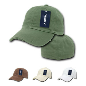 a237ad07f4893f Details about DECKY Fitted (4 sizes) Vintage Washed Polo Distressed Baseball  6 Panel Hats Caps