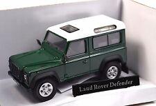 LAND ROVER DEFENDER 90 DARK GREEN WHITE 1:43 CARARAMA 251PND 4-55260 NEW
