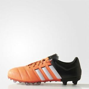 3573b839ee0 adidas ACE 15.2 FG AG FOOTBALL BOOTS MEN S BLACK ORANGE SOCCER ...