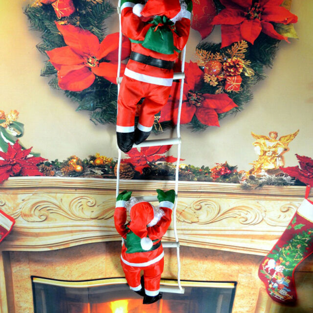 1PCS CLIMBING SANTA WITH ROPE LADDER OUTDOOR CHRISTMAS DECORATION - 1pcs Climbing Santa With Rope Ladder Outdoor Christmas Decoration EBay