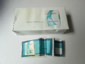 Vintage Scott Confidets 1960 Package Of 4 Sanitary Napkins with Papers