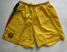Men's Nike Aguilas Del America Retro Soccer Short, New Yellow Blue Red Soccer XL