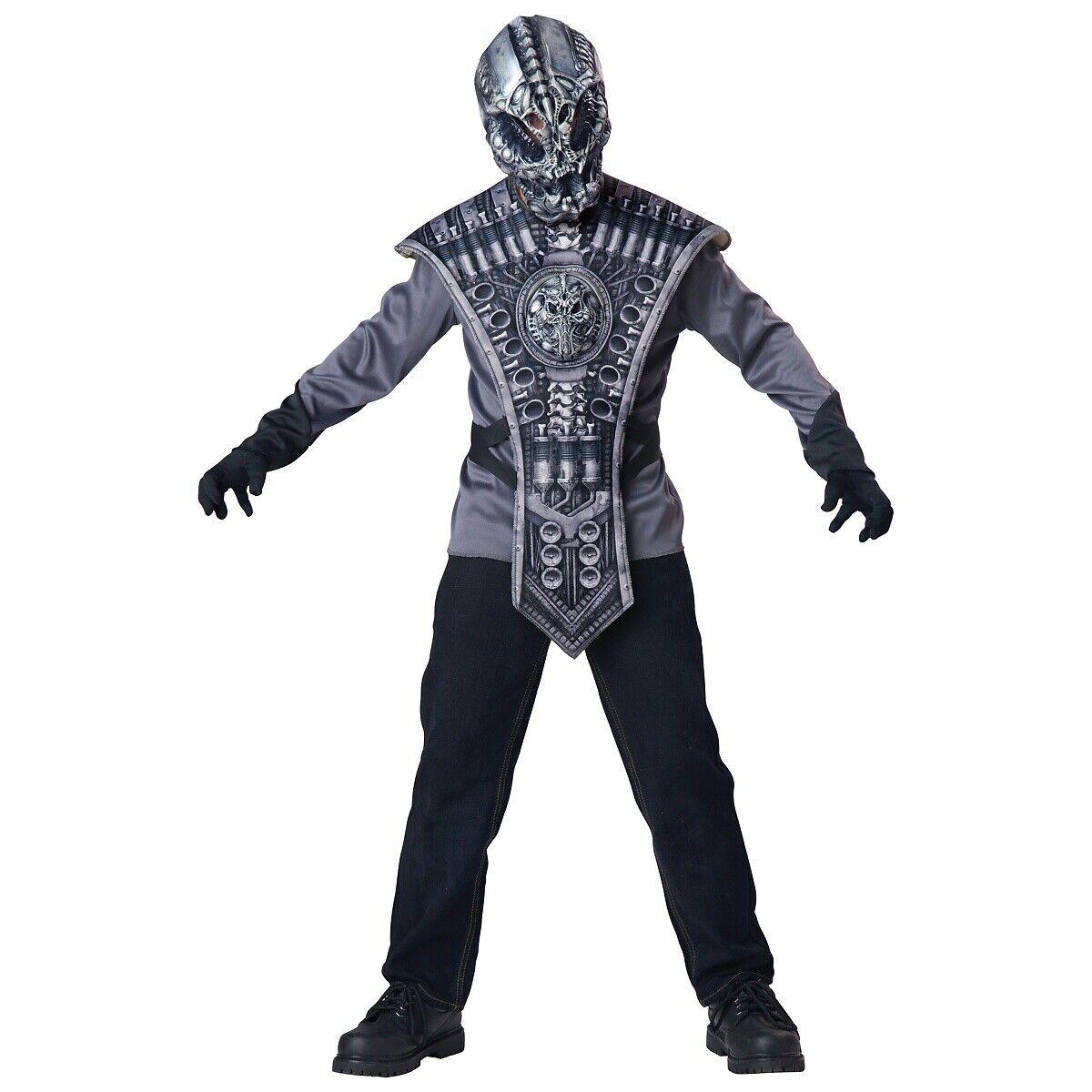 Alien Costume Kids Scary Halloween Fancy Dress