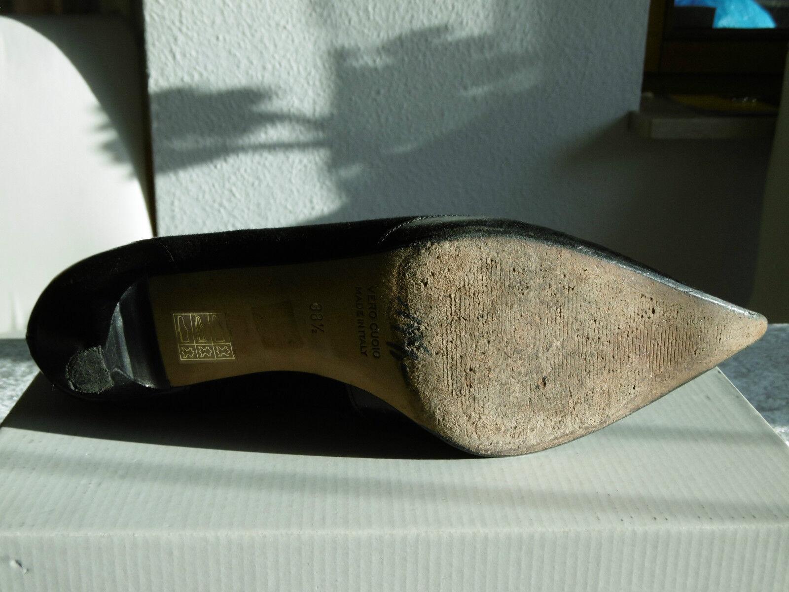 FABIO Gr RUSCONI  Stiefelette schwarz Gr FABIO 38,5 Alles Leder  made Italy NP 199.- neuw 090604