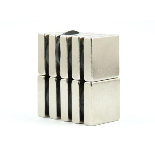 N42 20mm x 20mm x 5mm Strong Neodymium block magnets MRO DIY science VAR PACKS