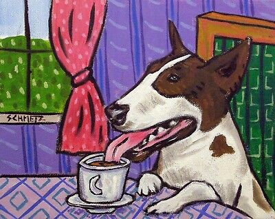 Australian Shepherd dog coffee  art artist print 11x17 glossy animals gift