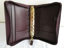 New Listingfranklin Covey Quest Pocket 78 Rings Planner Binder Leather Zip Brown Usa