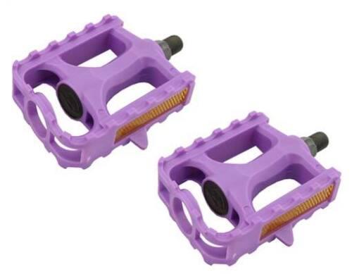 Bicycle Pedals MTB BMX Kid Bike 861 1//2 Purple Hi Impact Resin Body 202356