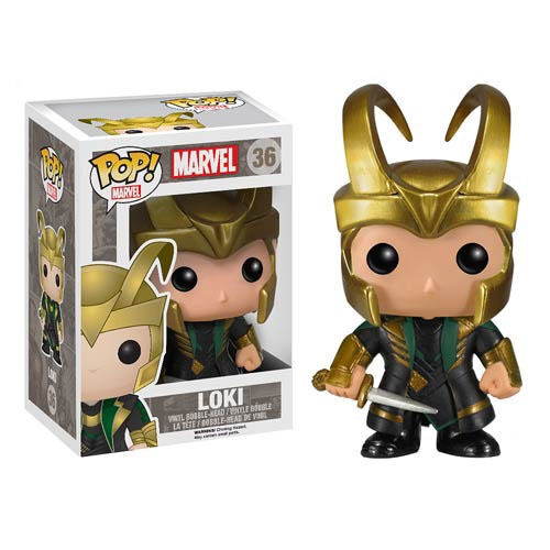 FUNKO POP LOKI 36 THE AVENGERS MARVEL FIGURE 9 CM STATUA STATUE CINEMA  1