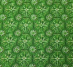 Green-Tile-Damask-BTY-Unbranded-100-Cotton-Fabric