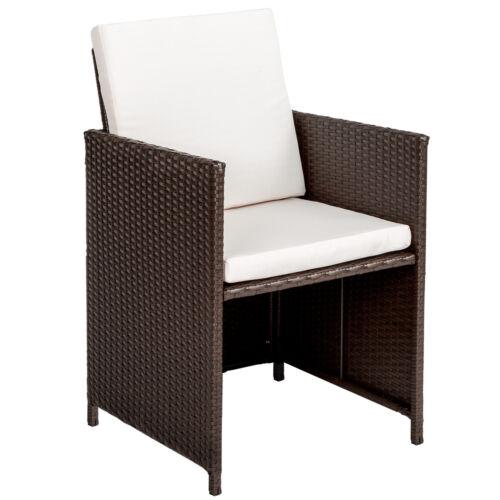 2er Set Polyrattan Stühle Gartenstuhl Sessel Rattanstuhl Gartenmöbel B-Ware