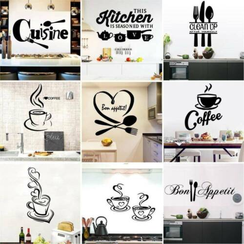 DIY Vinyl Home Room Decor Art Quote Wall Decal Stickers Kitchen Removable Mural