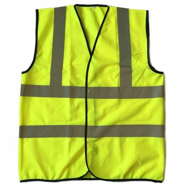Safety Vest w// Reflective Strips High Visibility for Men/&Women Neon Green