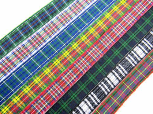 25mm /& 38mm Widths 8 x 1m Tartan Ribbon Choose from 12mm 16mm