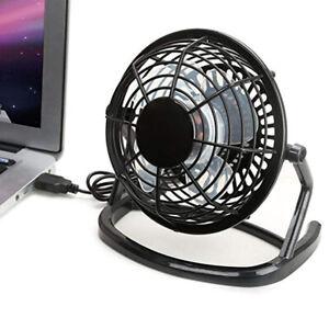 KQ_ USB Mini Desktop Office Fan 360 Degree Rotatable Computer Laptop Summer Cool